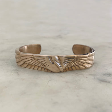 Bronze Petite Pelican Cuff Bracelet - MIMOSA Handcrafted Jewelry