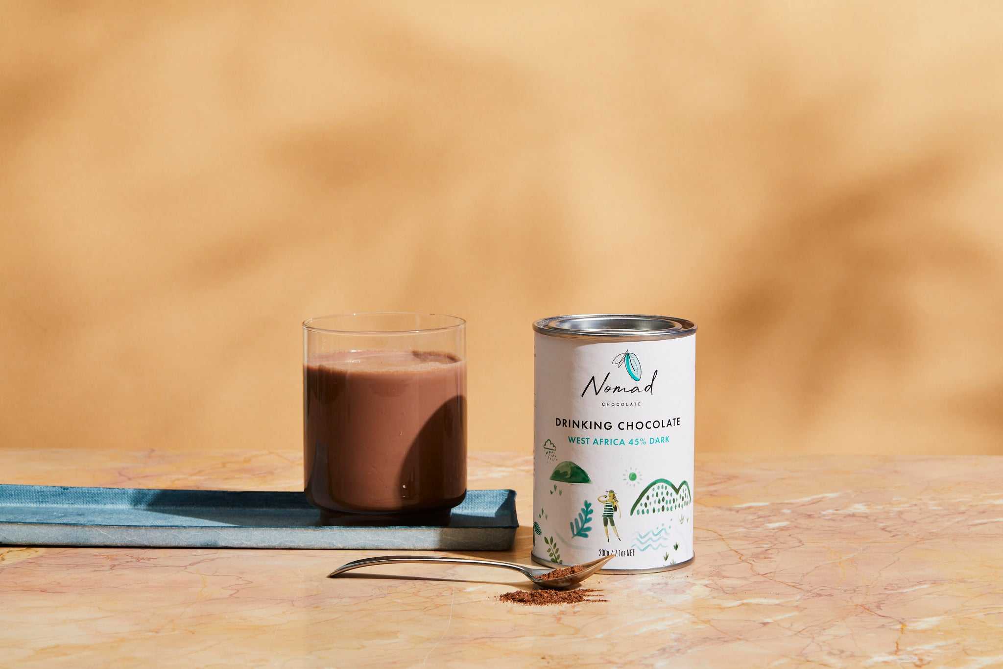 Nomad Chocolate's West Africa 45% Dark Hot Chocolate is Now Available at Woolworths