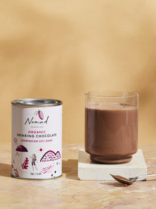 Nomad Chocolate Organic Drinking Chocolate Dominican 55% Dark, vegan dairy and gluten free