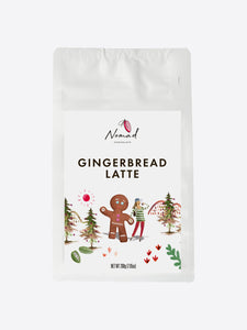 Nomad Chocolate Gingerbread Latte gluten free all natural products, coconut milk powder and spices
