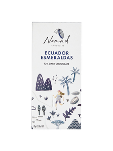 Nomad Chocolate Vegan, dairy and gluten free 72% dark chocolate organic