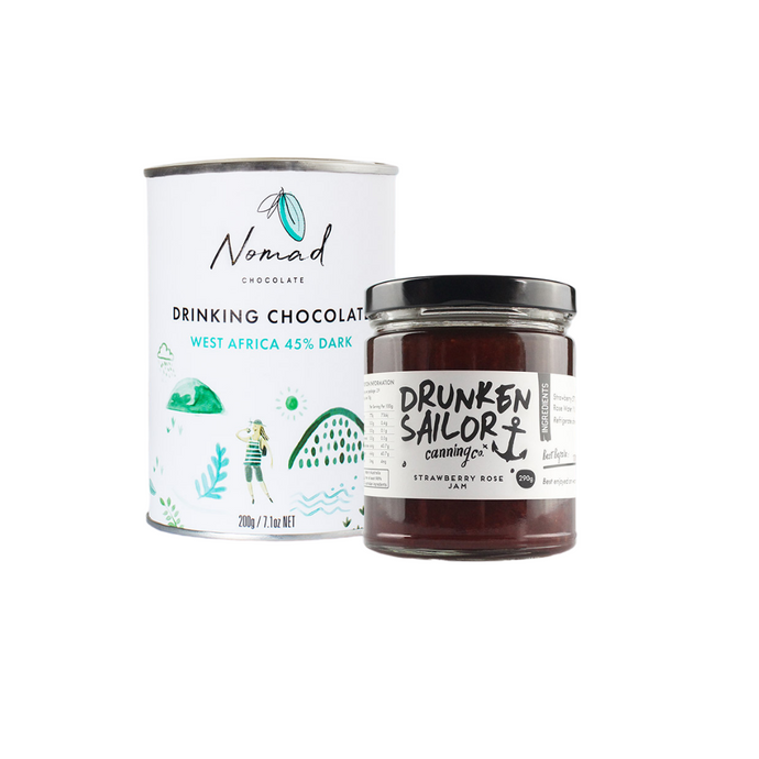 EVERYTHING CHOCOLATE and STRAWBERRY ROSE JAM BUNDLE