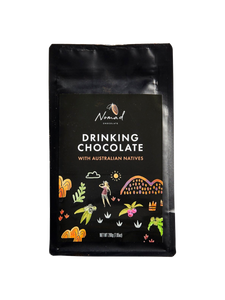 Nomad Chocolate with Australian Natives rich hot chocolate, vegan, dairy and gluten free