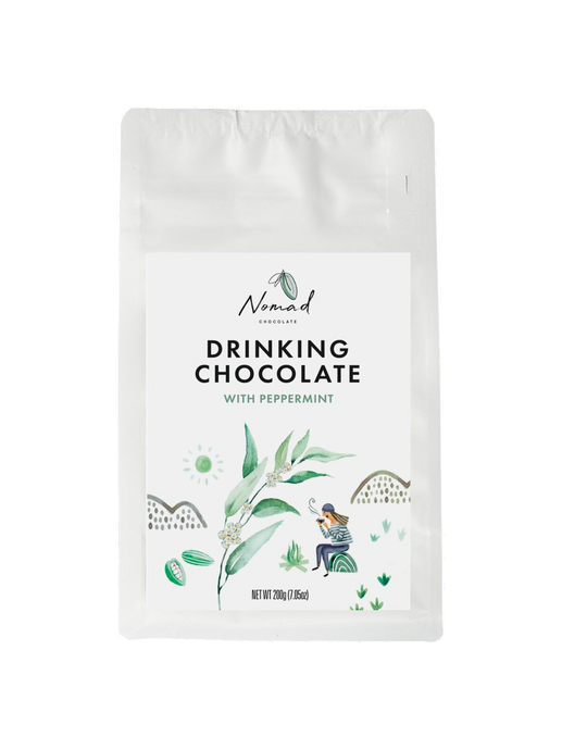 Nomad Drinking Chocolate with Peppermint, Vegan, Dairy and Gluten Free