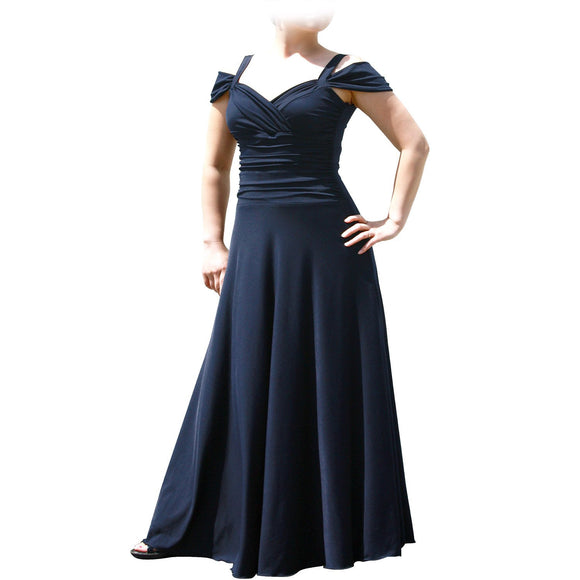Evanese Women's Plus Size Elegant Long Formal Evening Dress With Shoulder Bands