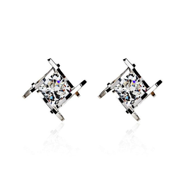 Square Zircons Earrings - UShopO Online Store
