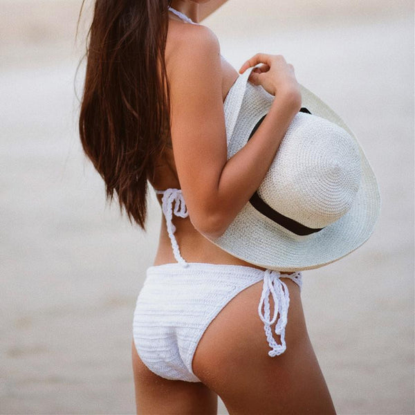 Crochet One-piece Backless Bathing Suit - UShopO Online Store