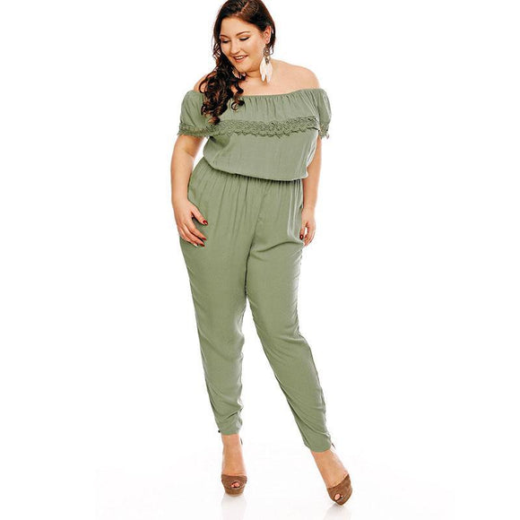 Green Lace Strapless Jumpsuit - UShopO Online Store