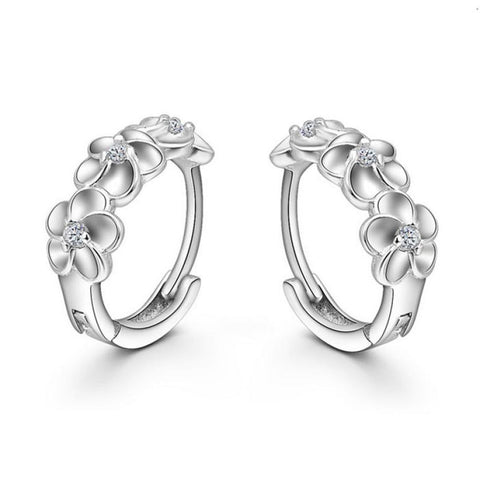 Silver Plated flower Earrings - UShopO Online Store