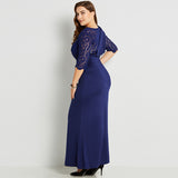 Fit and Flare Lace Dress - UShopO Online Store