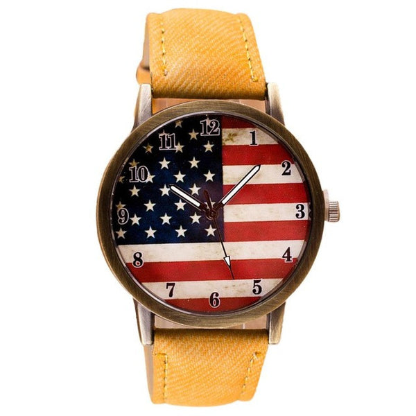 USA Flag Quartz Wrist Watch - UShopO Online Store