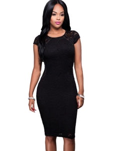 (SOLD OUT) Cap Sleeve Lace Dress - UShopO Online Store