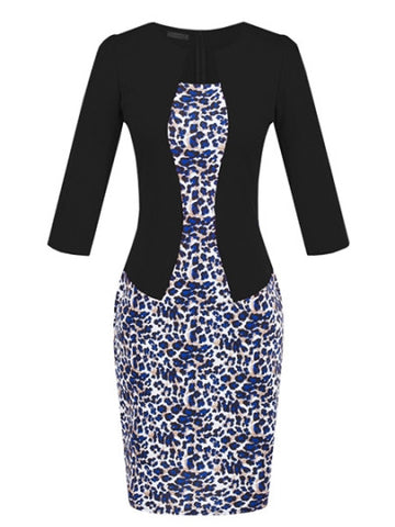 (SOLD OUT) Leopard Business Woman Dress - UShopO Online Store