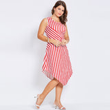 Stripe Sleeveless Dress - UShopO Online Store