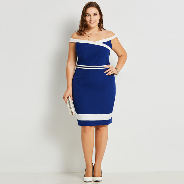 Blue Slash Dress - UShopO Online Store