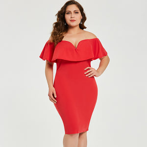 Empire Red Dress - UShopO Online Store