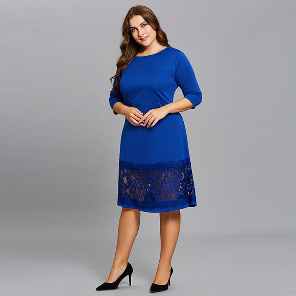 Stunning Blue Lace Dress - UShopO Online Store