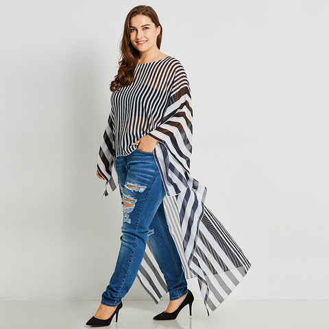 Loose Pullover Stripe Shirt - UShopO Online Store
