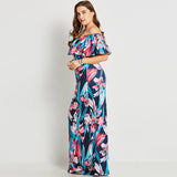 Slim Floral Maxi Dress - UShopO Online Store