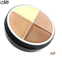 New 4 Color Contour Palette Makeup Face Concealer Cream Foundation Sun Block Moisture Waterproof Oil Control Palette Cosmetics