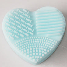 MOONBIFFY Heart Shape Clean Make up Brushes Wash Brush Silica Glove Scrubber Board Cosmetic Cleaning Tools for makeup brushes