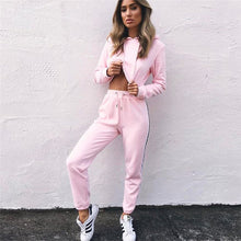 CROPPED TOP TWO PIECE TRACKSUIT