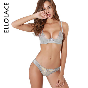PUSH UP BRA LACE SET TRANSPARENT