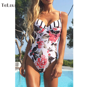 SEXY FLORAL ONE PIECE SWIMSUIT