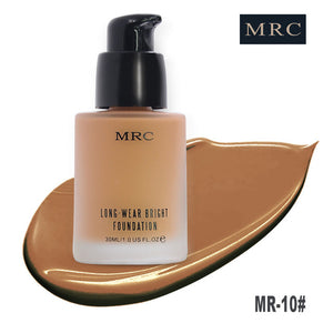 MRC Face Makeup Base Long Lasting Oil-Control Liquid Foundation with Concealer Whitening Moisturizer Waterproof Functions