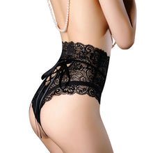 WAIST HIGH LACE THONGS