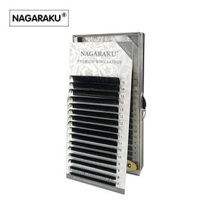 NAGARAKU 16rows/case 7~15mm mix in one tray natural synthetic mink,individual eyelash extension makeup cilia professional