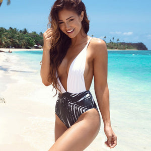SEXY HIGH CUT PUSH UP BATHING SUIT