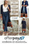 Navy Knit Full Length Cardi