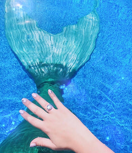 Iridescent Mermaid Scale Ring