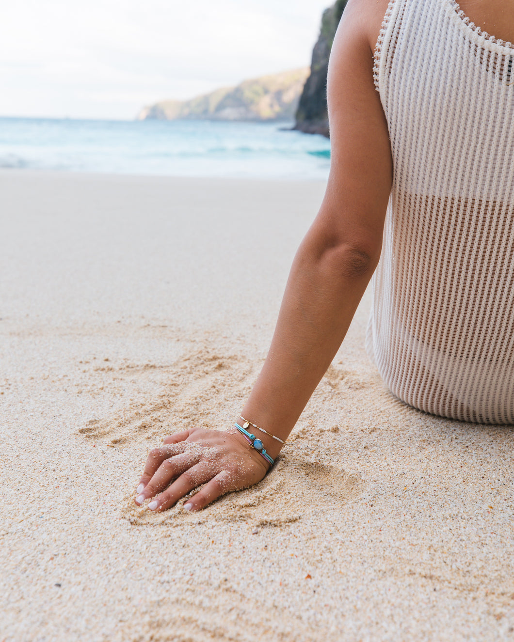 Save the oceans, wear stylish beaded bracelets and swimwear.