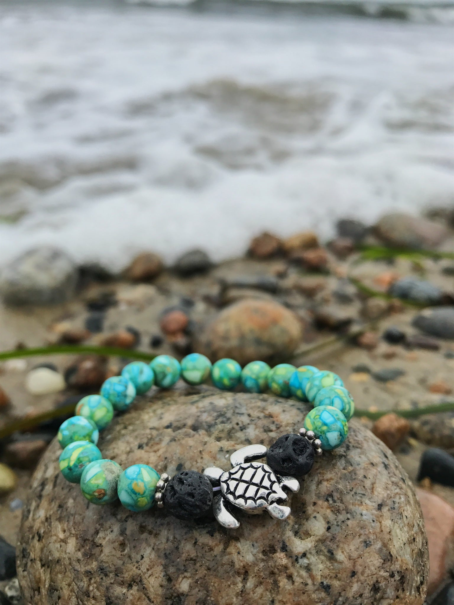 full from things love stone peace turtle size p i bracelet sea bead planet