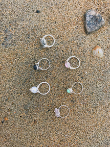 Silver Wire Dainty Rings - Nautical Sun Beads