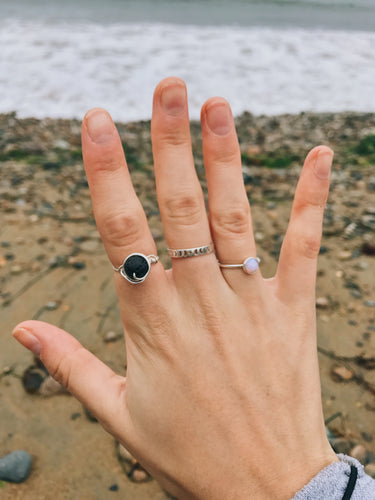 Volcanic Lava Rock Ring - Nautical Sun Beads