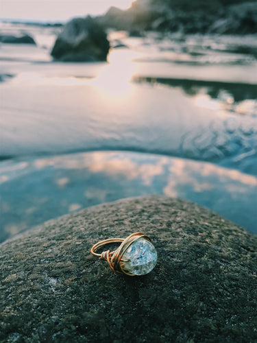 Crystal Stone Ring - Nautical Sun Beads