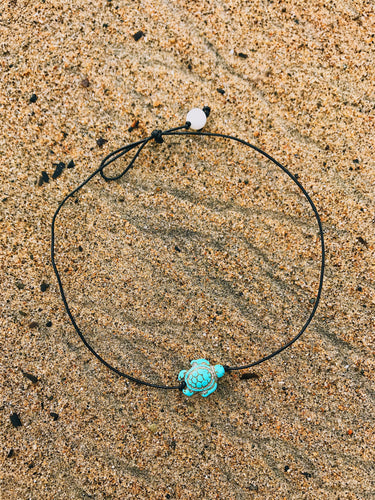 Turquoise Sea Turtle Choker - Nautical Sun Beads