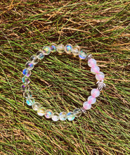 Pink Opal Rainbow Sea Turtle Bracelet - Nautical Sun Beads