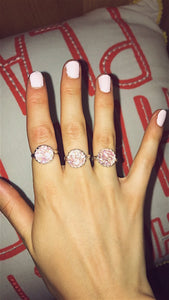 Pink Crystal Druzy Ring - Nautical Sun Beads