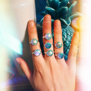 Mermaid Scale Rings - Nautical Sun Beads