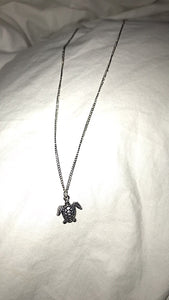 Silver Sea Turtle Necklace - Nautical Sun Beads