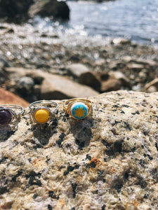 Ray of Sunshine Rings - Nautical Sun Beads