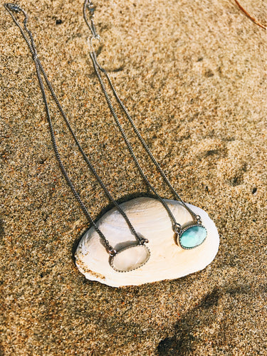 Oval Stone Pendant Necklaces - Nautical Sun Beads