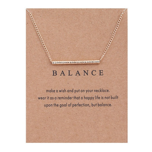 Gold Bar Balance Necklace