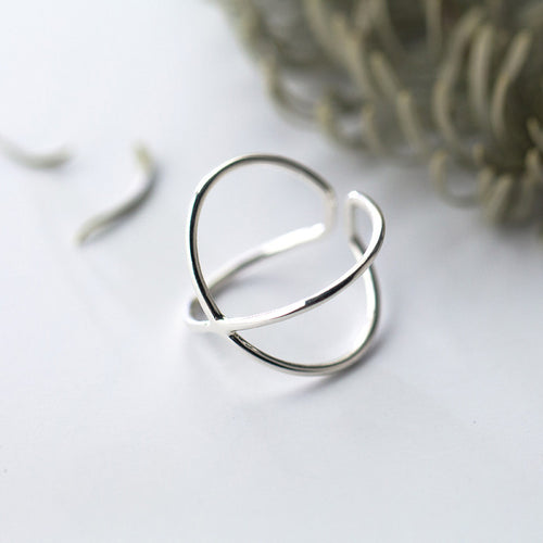 Sterling Silver Cross Band Ring - Nautical Sun Beads