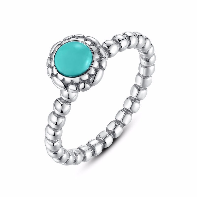 Dainty Turquoise Ring - Nautical Sun Beads