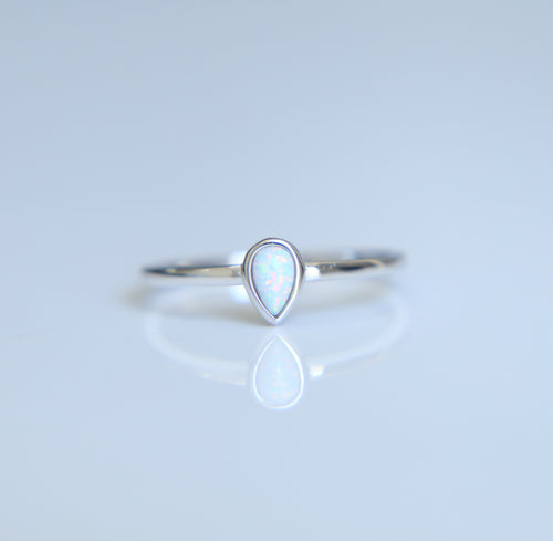 Opal Teardrop Ring - Nautical Sun Beads